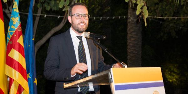 Intervención del representante del Excmo. Ayuntamiento de Elche. Héctor Díez Pérez, Concejal de Promoción  Económica.